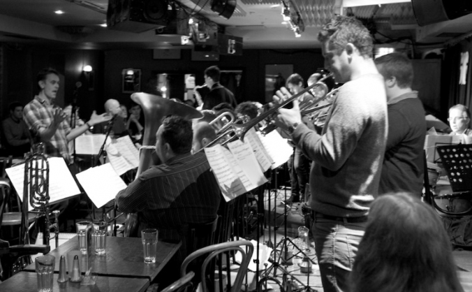 Recording the debut Gareth Lockrane Big Band album