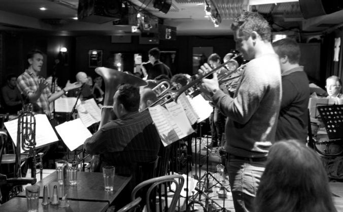 Recording the debut Gareth Lockrane Big Band album