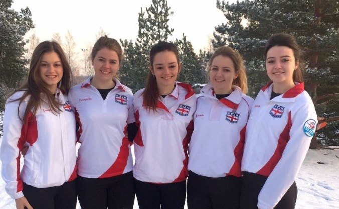 England Curling Girls- Team Sparks to Sweden!