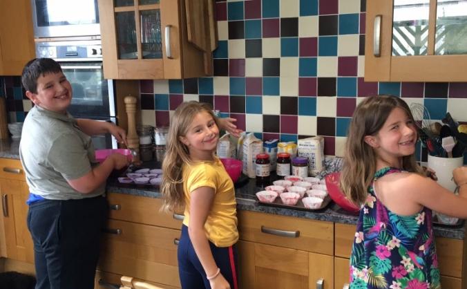 Emily's cake sale for Derriford children's unit