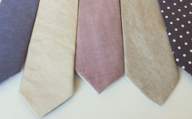 Handmade ties & bow ties from organic fabric