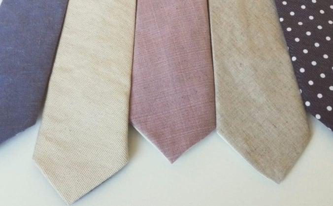 Handmade ties & bow ties from organic fabric