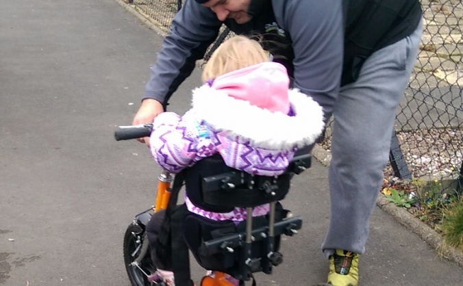 An adapted trike for Charlotte