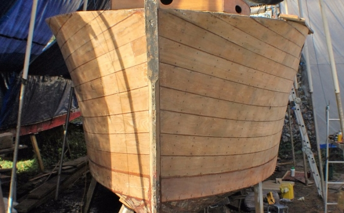 Vintage wooden boat restoration - Norfolk Broads