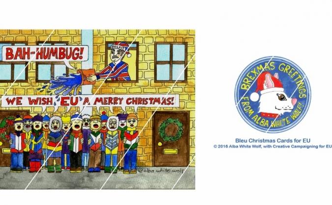 Bleu Christmas Cards