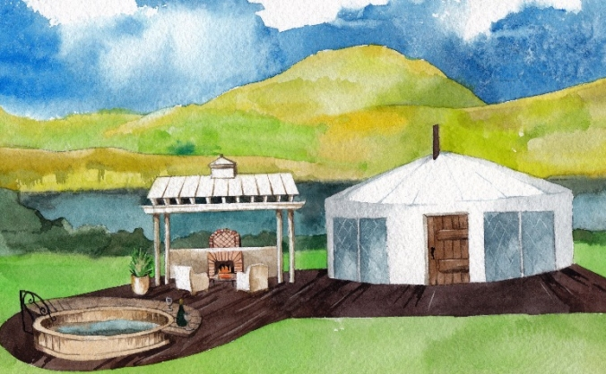 Fully inclusive holiday yurts