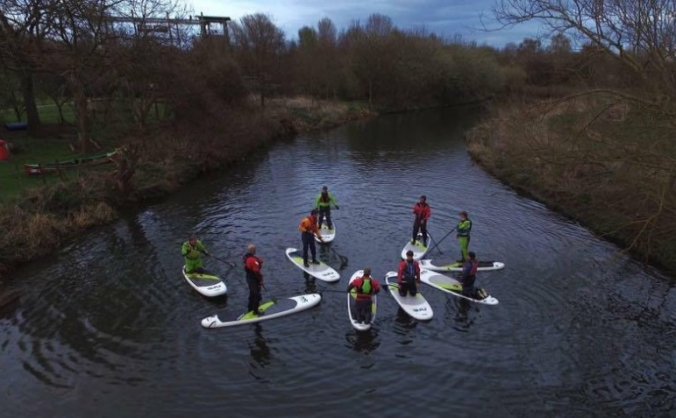 Stand Up Paddleboards for teaching Scouts