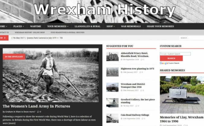 Keep Wrexham History website online.