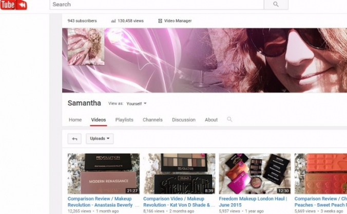 Samantha's YouTube Channel  Production