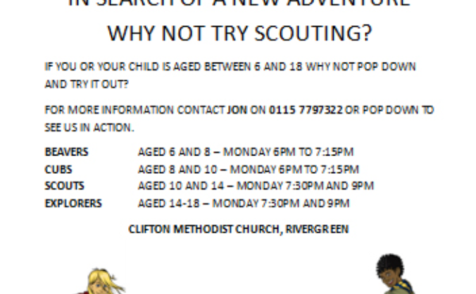 1st Clifton Scouts Recruitment and Equipment Drive