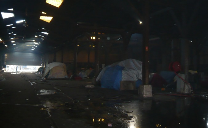 Helping homeless migrants at Calais