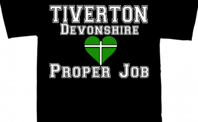 Tiverton Devonshire 'flag heart' T Shirt