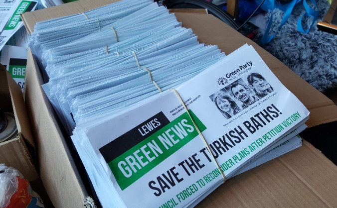 Start a Green Party community print shop in Lewes