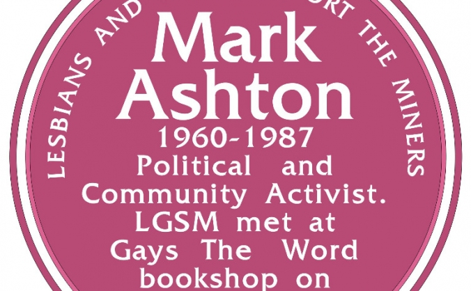 Mark Ashton memorial plaque