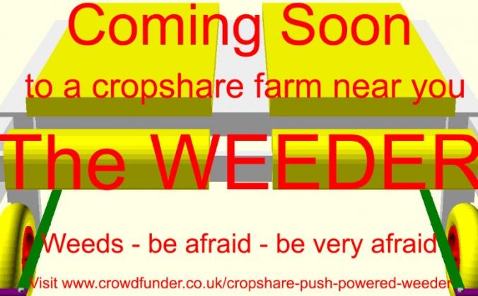 Cropshare push-powered weeder