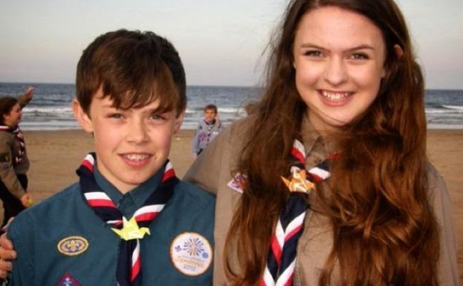 Scouting siblings going to japan for jamboree