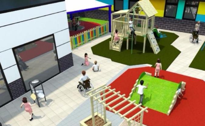 Outdoor Sensory Play Area
