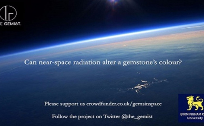 Studying gemstones in near space!