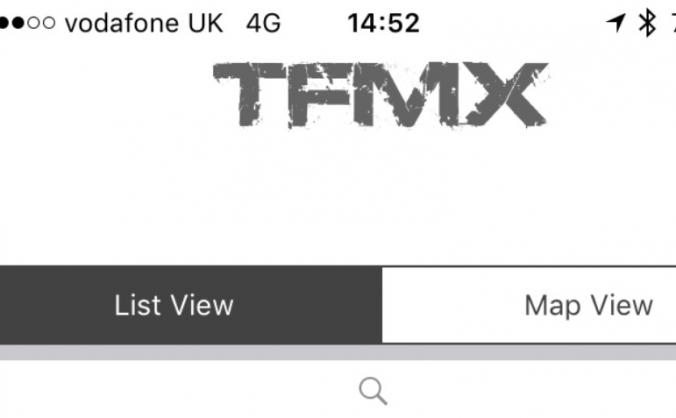 Motocross Track Finder app for iPhone