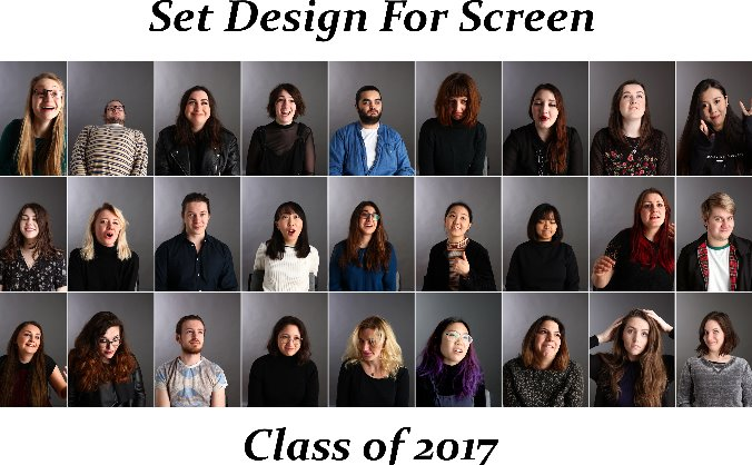 Set Design for Screen Graduation Show 2017