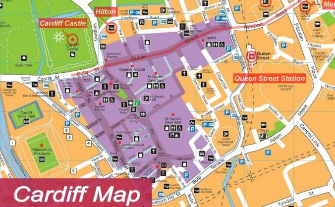 Cardiff Pokémon Go Map