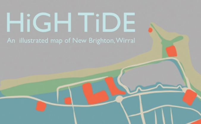 HigH TidE: New Brighton Illustrated Risograph Map