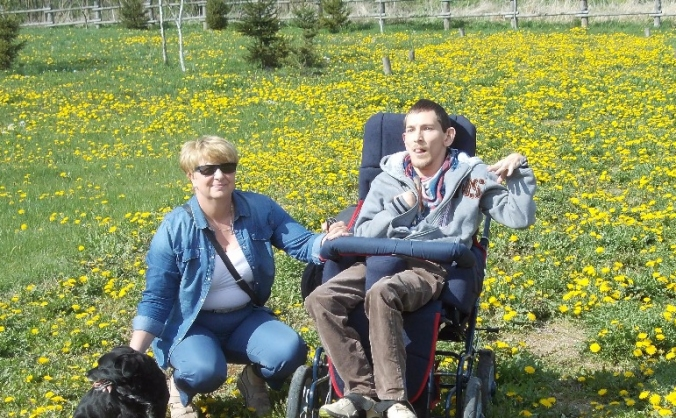 Lift installation for Pawel:Cerebral Palsy patient