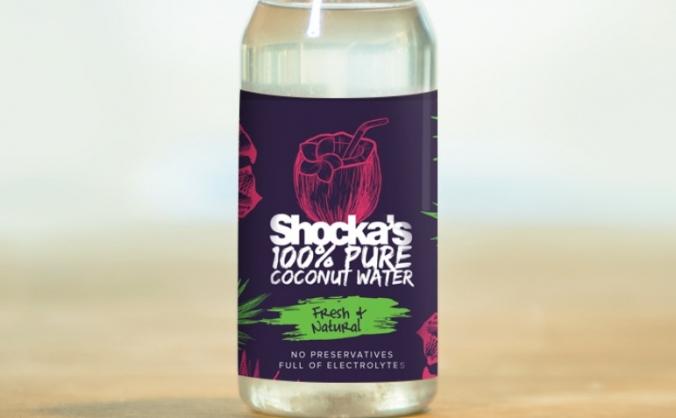 Shocka's 100% Coconut water.