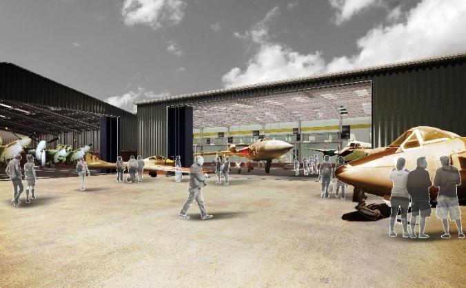 New Hangar for the de Havilland Aircraft Museum
