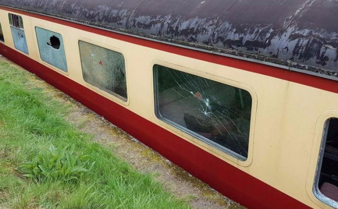 Telford Steam Railway - vandalism repairs