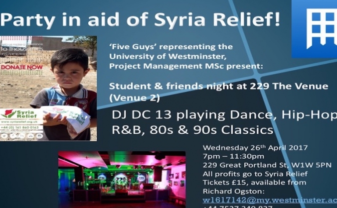 Syria Relief Party Night