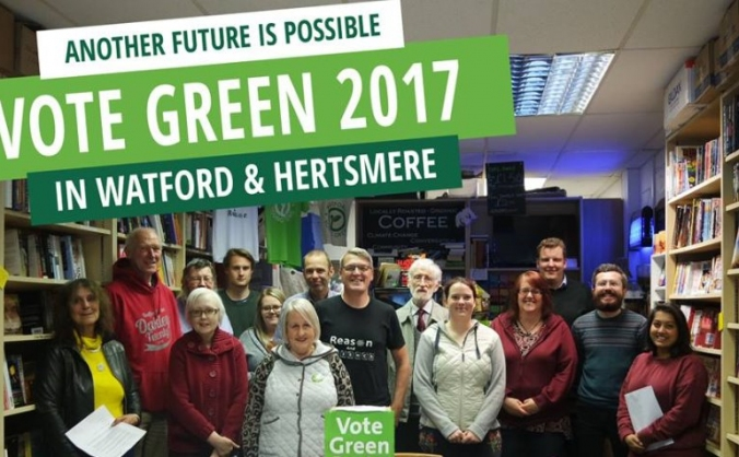 Help Watford Greens stand candidate in Hertsmere