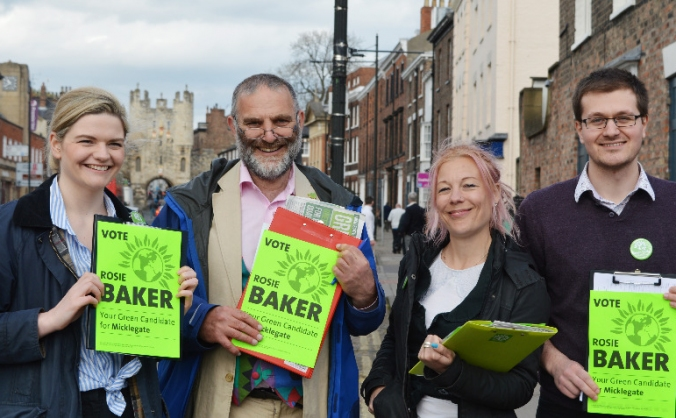 Support Green Party election campaigns in York