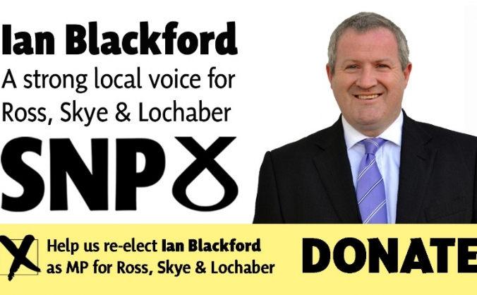 Re-elect Ian Blackford SNP - Ross, Skye & Lochaber