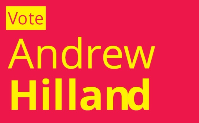 Andrew Hilland for Lanark and Hamilton East
