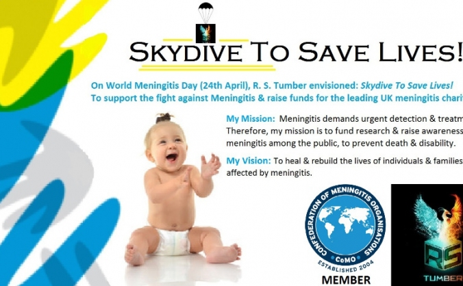 Skydive to Save Lives! ...3-miles & 125mph!