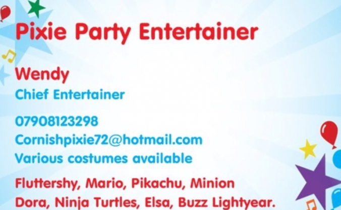 Pixie party entertainers