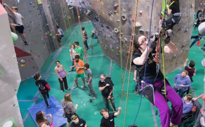 Disability rock climbing