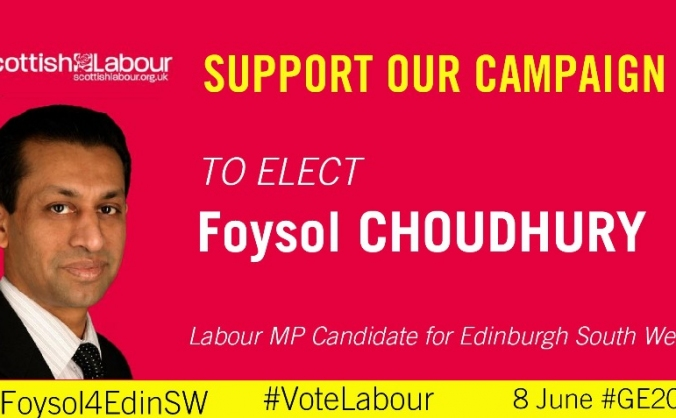 Elect Foysol Choudhury for Edinburgh South West