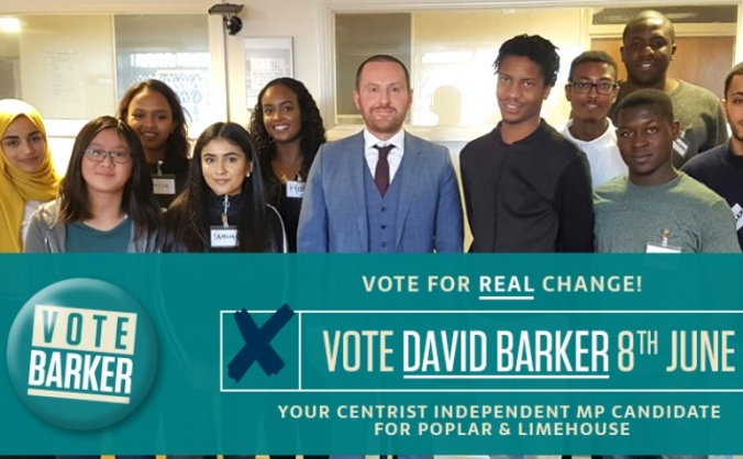Help Elect David Barker in Poplar and Limehouse!
