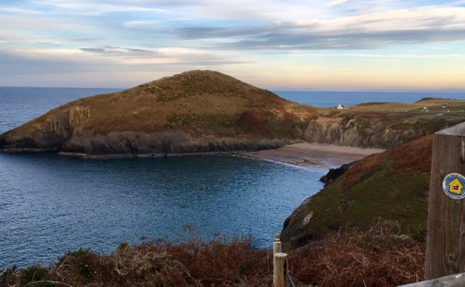 Walking the Ceredigion coastal path in 24 hours.