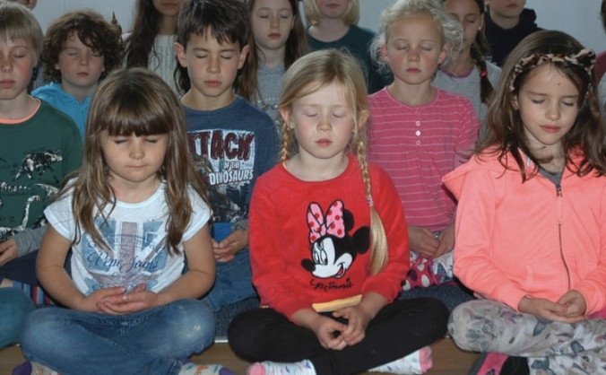 Eco-library for children at mindfulness school
