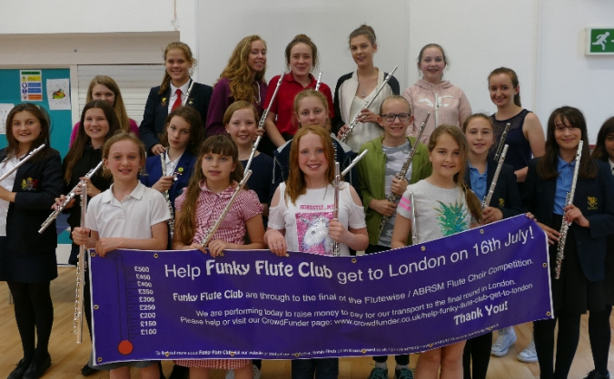 Help Funky Flute Club get to London!
