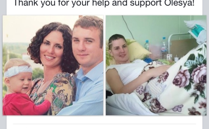 Help Olesya Fight For Her Life