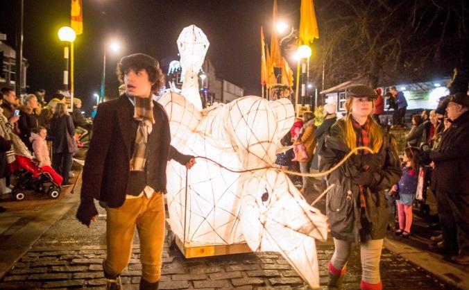 Langwathby Lantern for Winter Droving