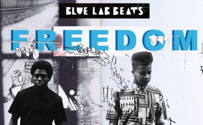 Blue Lab Beats Freedom EP on vinyl