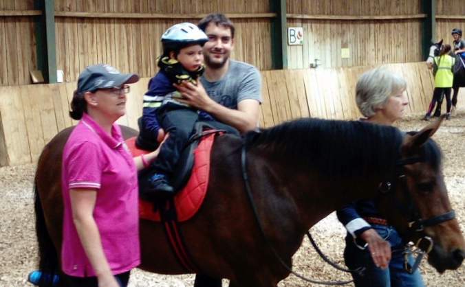 Daniel's sponsored horse trek for the RDA