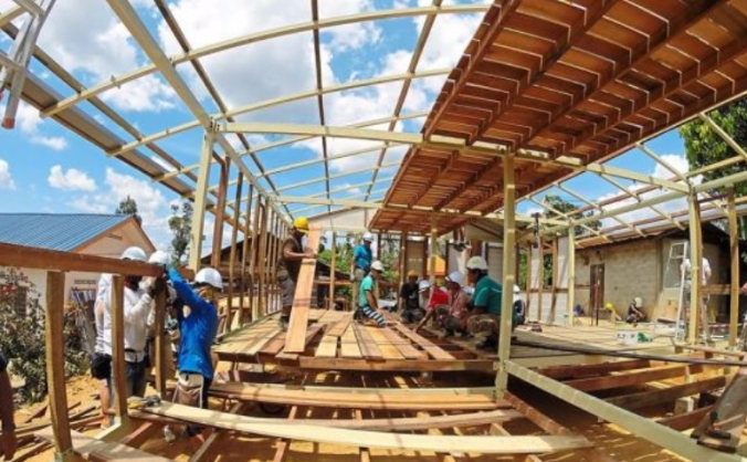 Building a home for an underpriveleged family