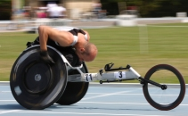Racing wheelchairs and training
