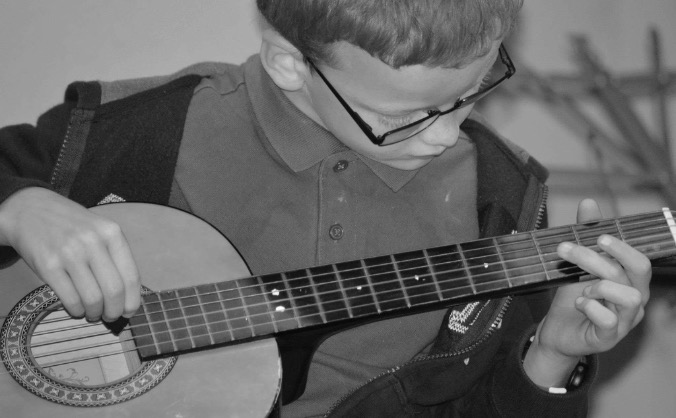 Guitar lessons for my boy